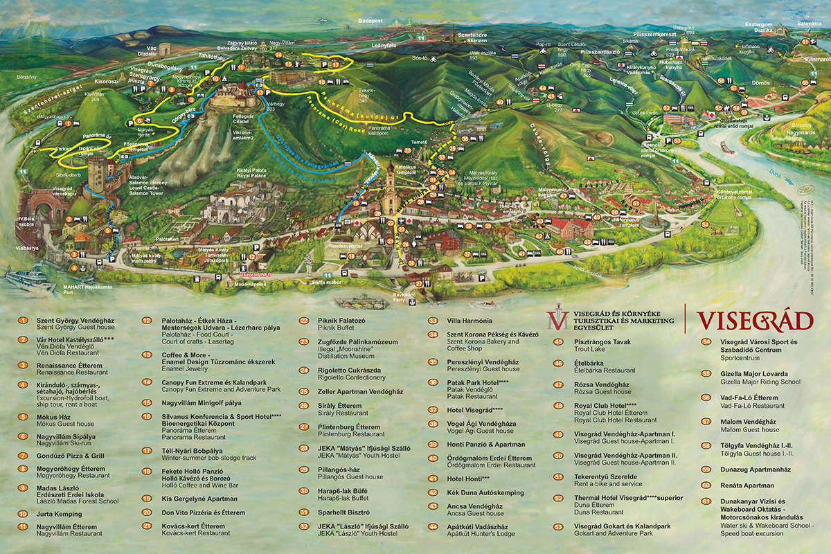 visegrád térkép Hotel Silvanus Visegrád   :: Térkép visegrád térkép